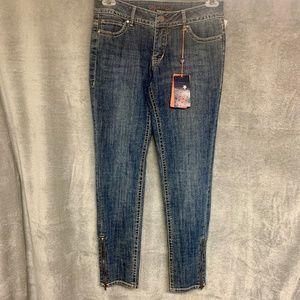 WORN Jasmine Zip Lois Rise Stretch Skinny Cargo Jeans NWT